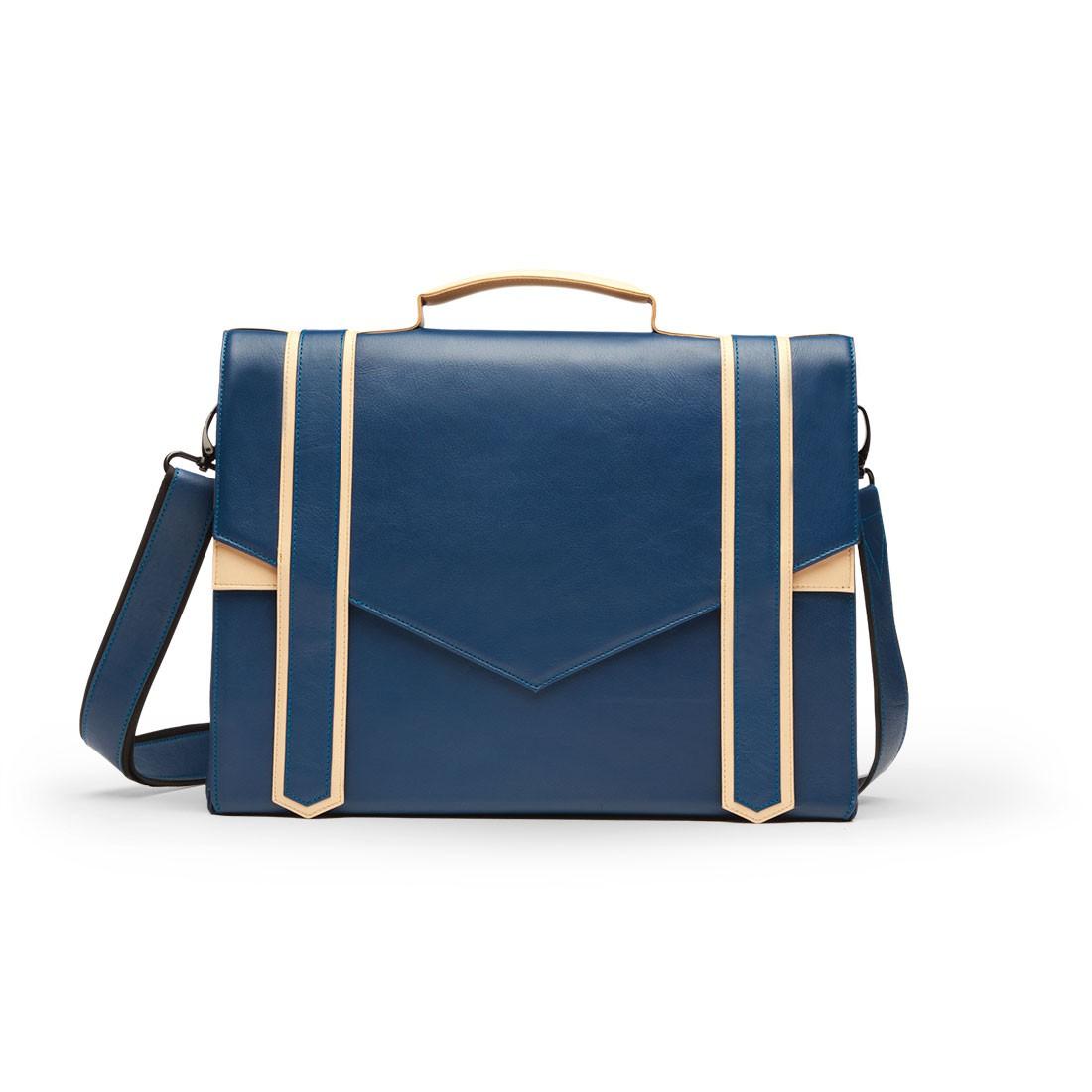 Sac A Main Cartable Cuir Noir : Sac cartable en cuir bleu et beige carokhoto sacs ?