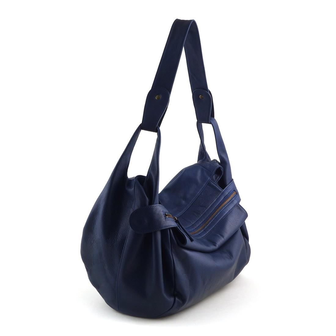 accueil  collections  sacs à main  Sac à main en cuir bleu